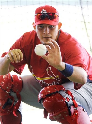 The ball is in the Cardinals' court as to whether catcher Yadier Molina remains with the team past 2012. (Photo: AP)