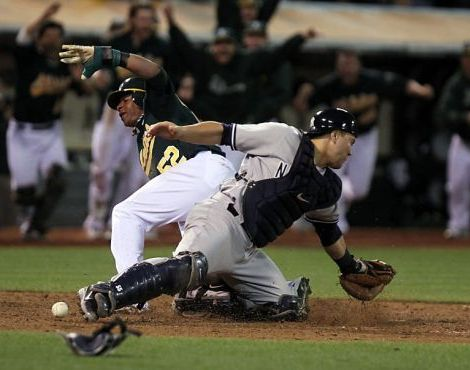 The Yankees have lost their last six one-run games, including four during a recent trip to Oakland. (Photo: SF Chronicle)