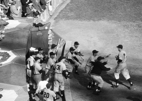 The 2012 Yankees hope to be celebrating just like the 1951 team did after coming out on top in a tight pennant race.