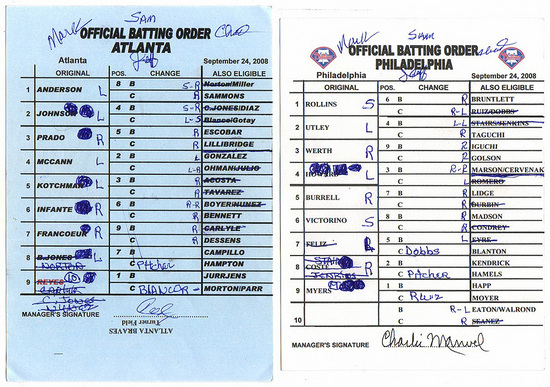 September roster expansion has led to many lineup cards that look like these.