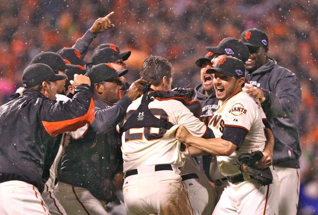 Not even the rain could dampen the Giants' comeback spirit. (Photo: Getty Images)