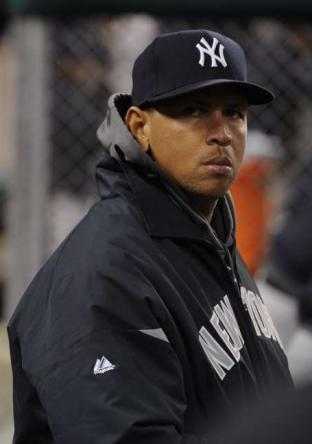 Arod has been reduced to a spectator for much of the 2012 postseason. (Photo: Daily News)