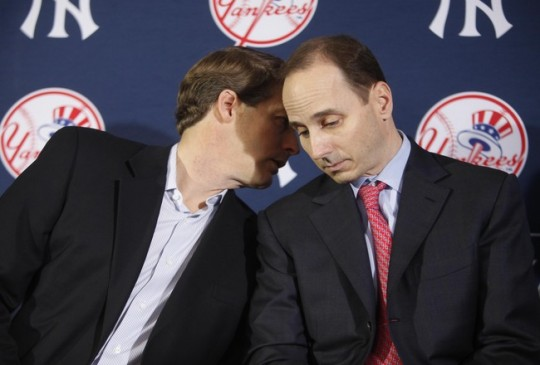 Hal Steinbrenner and Brian Cashman have enjoyed a good relationship, but will it become strained by the team&#039;s budget? (Photo: Getty Images)